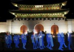 Seul'de protesto yasağına karşı 'hayalet protesto'