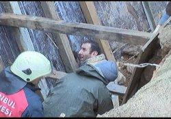 İstanbul'da göçük:1 işçi enkaz altında