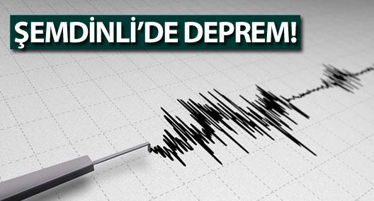 Şemdinli'de deprem!