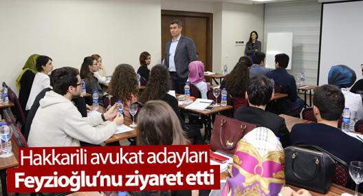 Hakkarili avukat adayları Feyzioğlu'nu ziyaret etti