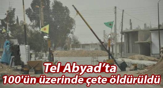 Tel Abyad'ta 100'ün üzerinde çete öldürüldü