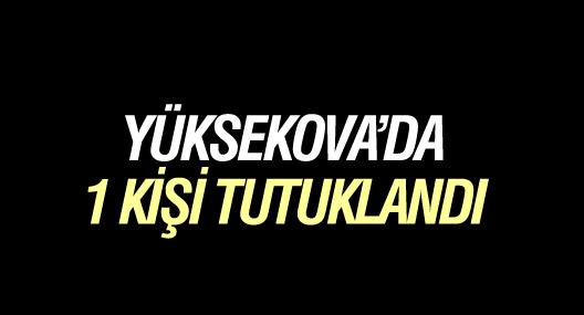 Yüksekova'da 1 tutuklama