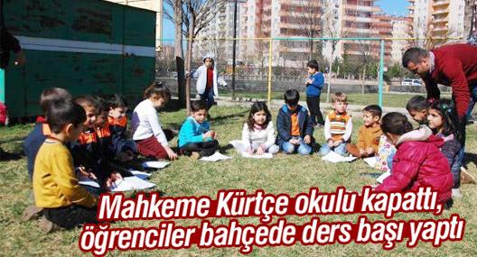 Mahkeme Kürtçe okulu kapattı, öğrenciler bahçede ders başı yaptı