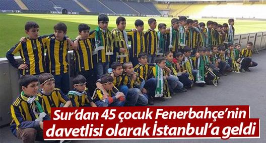 Sur'dan 45 çocuk Fenerbahçe'nin davetlisi olarak İstanbul'a geldi