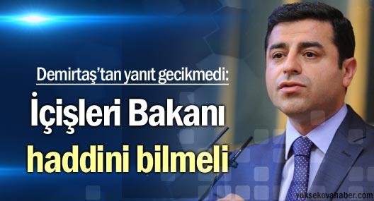 Demirtaş: İçişleri Bakanı haddini bilmeli