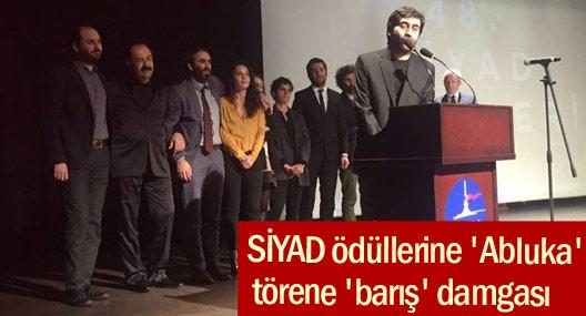 SİYAD ödüllerine 'Abluka', törene 'barış' damgası