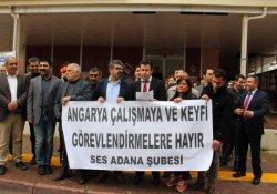 Adana'da sağlıkçılar mobing uygulamayı protesto etti