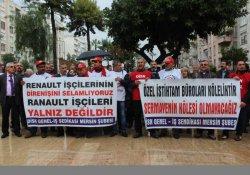 Renault işçilerine Mersin'den destek