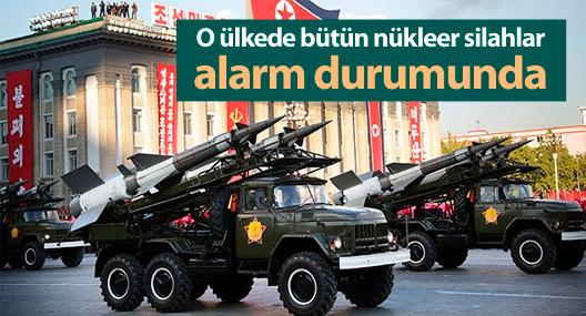 Kuzey Kore'de bütün nükleer silahlar alarm durumunda