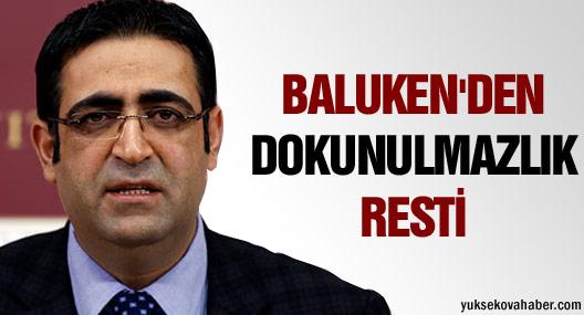 HDP'li Baluken'den dokunulmazlık resti