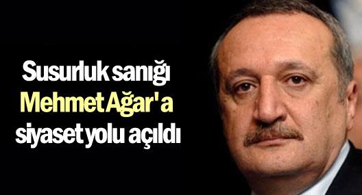 Susurluk sanığı Mehmet Ağar'a siyaset yolu açıldı