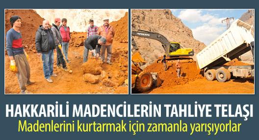 Hakkarili madencilerin tahliye telaşı