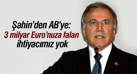 Şahin'den AB'ye: 3 milyar Euro'nuza falan ihtiyacımız yok