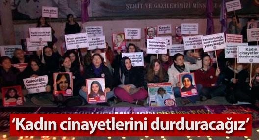 Dünya Kadınlar Günü'ne oturma eylemi yaparak girdiler