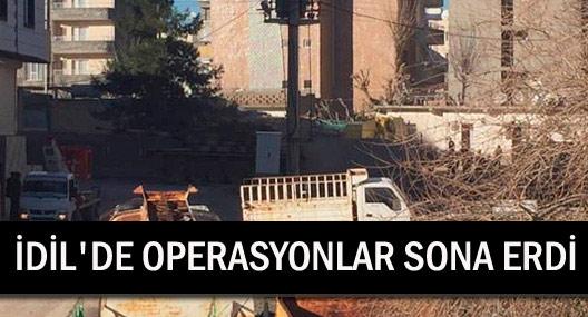 İdil'de operasyonlar sona erdi