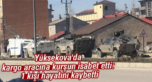 Yüksekova'da kargo aracına kurşun isabet etti: 1 kişi hayatını kaybetti