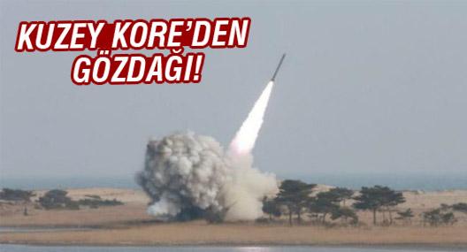 Kuzey Kore'den iki balistik füze ile gözdağı