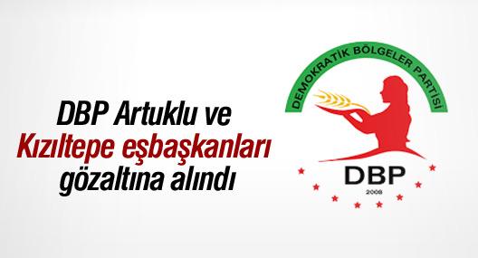 DBP Artuklu ve Kızıltepe eşbaşkanları gözaltına alındı