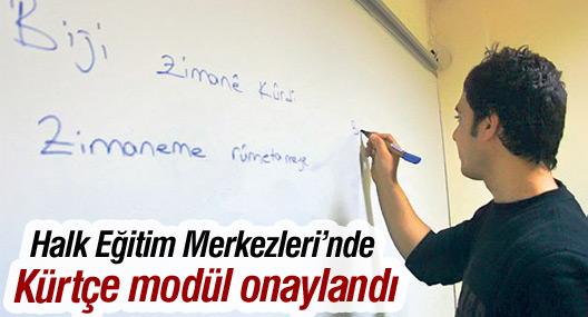 Halk Eğitim Merkezleri'nde Kürtçe modül onaylandı