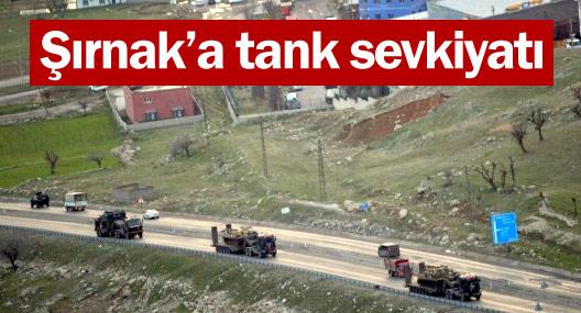 Şırnak'a tank sevkiyatı
