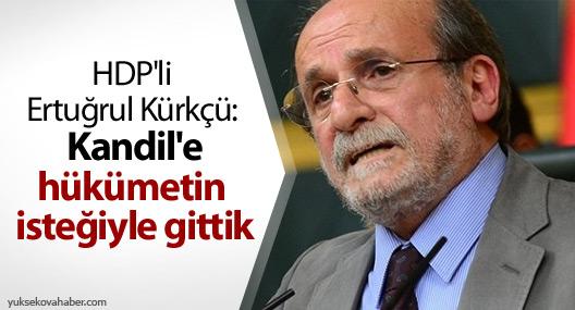 HDP'li Ertuğrul Kürkçü: Kandil'e hükümetin isteğiyle gittik