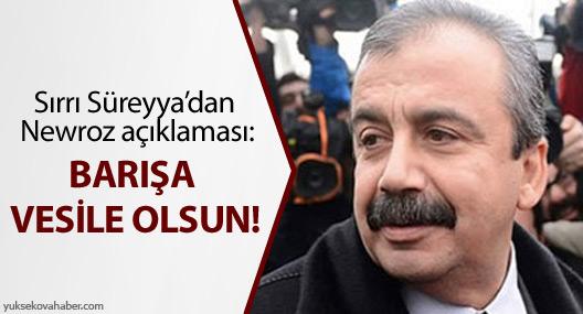 Sırrı Süreyya Önder'den Newroz açıklaması