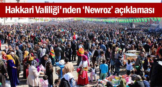 Hakkari Valiliği'nden Newroz açıklaması