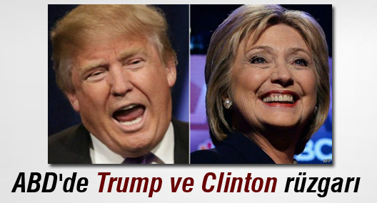 ABD'de Donald Trump ve Hillary Clinton rüzgarı