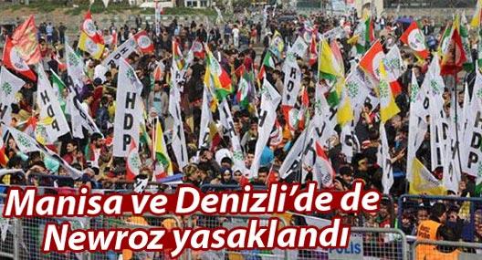 Manisa ve Denizli'de de Newroz yasaklandı