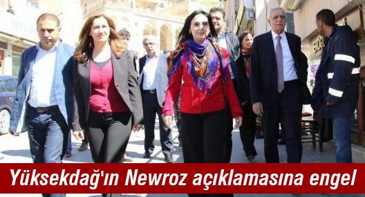 Yüksekdağ'ın Newroz açıklamasına engel