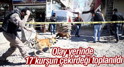 Olay yerinde 17 kurşun çekirdeği toplanıldı