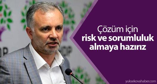 HDP Sözcüsü Bilgen: Çözüm için risk ve sorumluluk almaya hazırız