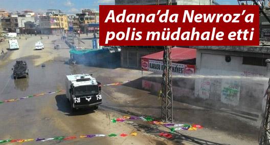 Adana'da Newroz'a polis müdahalesi