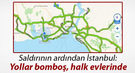 Saldırının ardından İstanbul: Yollar bomboş, halk evlerinde