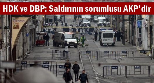 HDK ve DBP: Saldırının sorumlusu AKP'dir