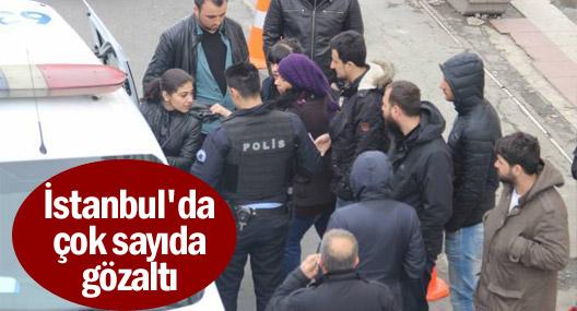 İstanbul'da 2'si gazeteci 75 gözaltı
