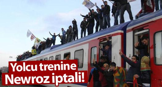 Yolcu trenine Newroz iptali!