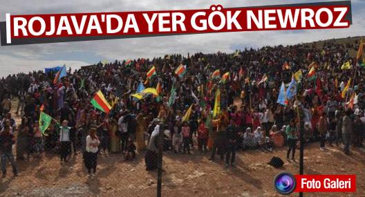 Rojava'da yer gök Newroz