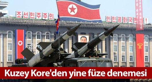 Kuzey Kore'den yine füze denemesi
