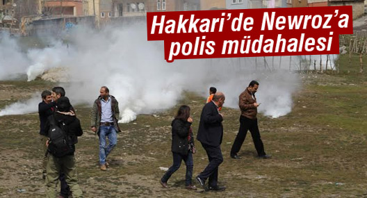 Hakkari'de Newroz'a müdahale