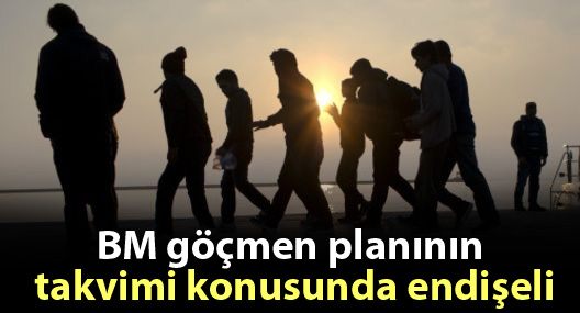 BM göçmen planının takvimi konusunda endişeli