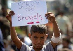 Mülteci çocuktan Brüksel için 'Üzgünüm' mesajı