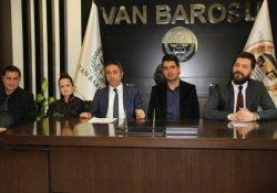 Van Barosu'ndan avukatların tutuklanmasına tepki