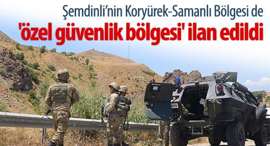 Şemdinli'de bir bölge daha 'özel güvenlik bölgesi' ilan edildi