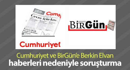 Cumhuriyet ve BirGün'e Berkin Elvan haberleri nedeniyle soruşturma