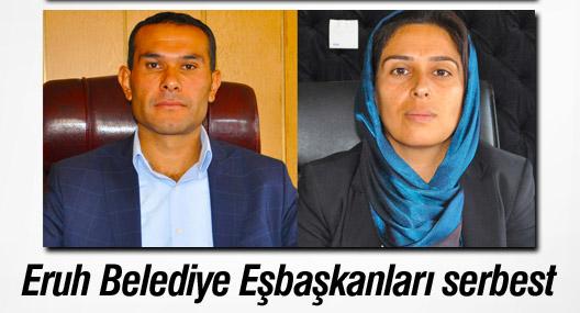 Eruh Belediye Eşbaşkanları serbest
