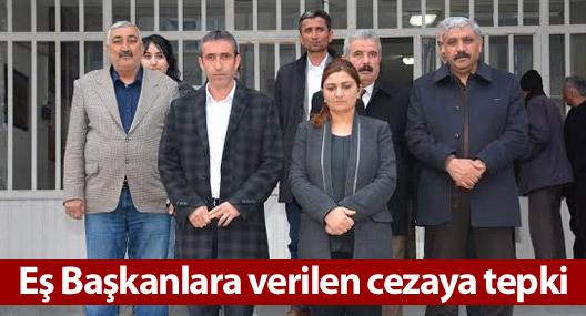 Hakkari Belediye Eş Başkanlarına verilen cezaya tepki