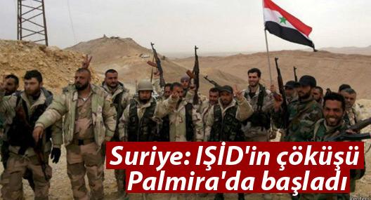 Suriye: IŞİD'in çöküşü Palmira'da başladı
