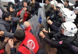 Taşeron işçilere polis müdahalesi: 6 gözaltı
