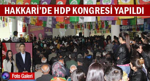 HDP Hakkari kongresi yapıldı